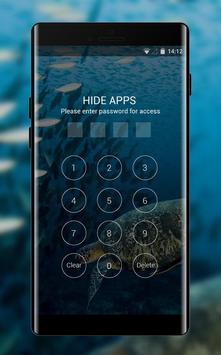 Underwater theme turtle swim wallpaper screenshot 2