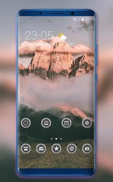 Theme for OPPO realme 2 cloud mountain wallpaper poster
