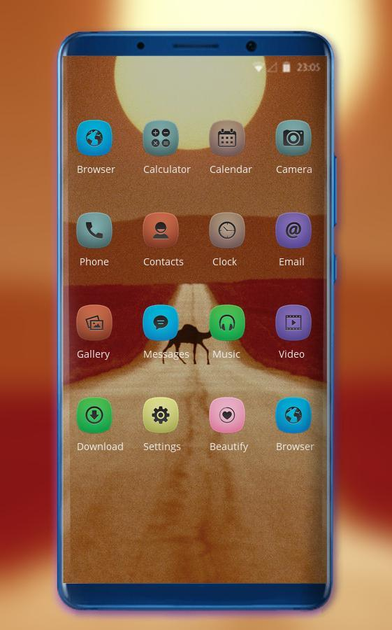 Theme for Mi Band 3 desert camel sun wallpaper for Android - APK