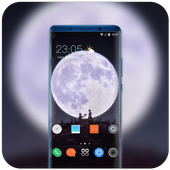 Theme for Mi Band 3 moon love night wallpaper icon