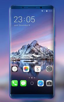 Theme for Phone XS mountain sea wallpaper poster