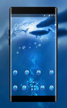 theme for Moto Z2 Force underwater whale wallpaper poster