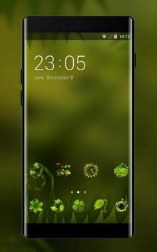 Theme for Mi A1 natural green blur wallpaper poster