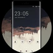 Theme for Moto C Plus mountain wallpaper icon