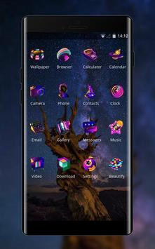 Science Fiction Star Sky theme screenshot 1