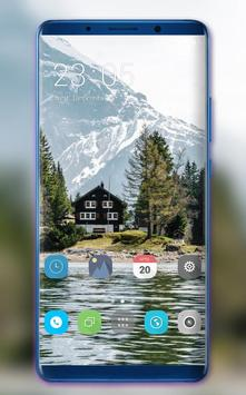 Theme for Samsung Galaxy A7 plus river natural poster