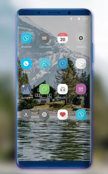 Theme for Samsung Galaxy A7 plus river natural screenshot 1