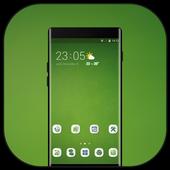 Theme for OPPO realme 2 simple green empty walls icon