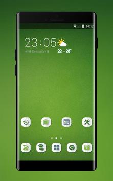 Theme for OPPO realme 2 simple green empty walls poster