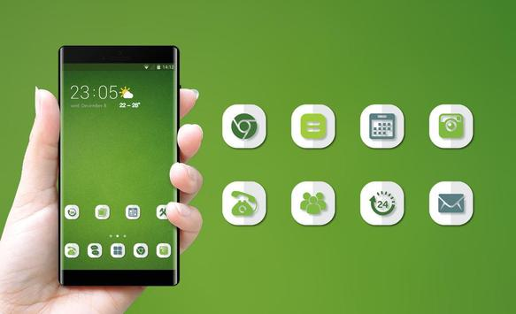 Theme for OPPO realme 2 simple green empty walls screenshot 3