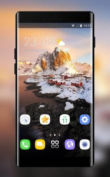 Theme for natural xiaomi 8 pro snow village ice poster