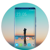 Theme for OPPO realme 2 simple ocean photo stand icon