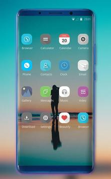Theme for OPPO realme 2 simple ocean photo stand screenshot 1