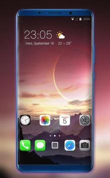 Theme for Nokia X Phone Mi 8 Pro star mountain poster