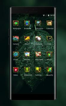 natural forest leaves theme screenshot 1