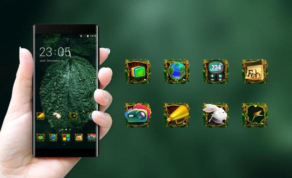 natural forest leaves theme screenshot 3