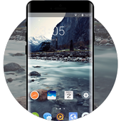 Theme for natural landscape river one plus6 icon