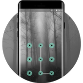 Magic forest for witch theme icon