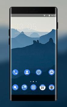 Theme for nokia7 deep blue mountain wallpaper poster