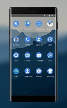 Theme for nokia7 deep blue mountain wallpaper screenshot 1