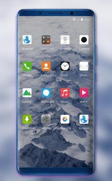 Theme for nature mountain peak wallpaper screenshot 1