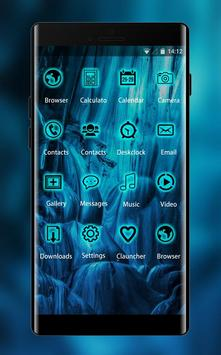 Neon Blue Live Wallpaper & Icon Pack screenshot 1