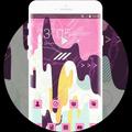 Pink Stylish Ice Cream Free Theme for Jio Phone