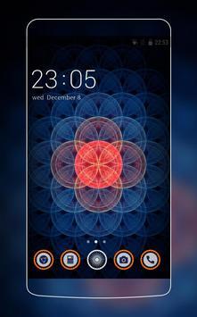 Neon Red & Blue Sacred Theme for Vivo V5 HD poster