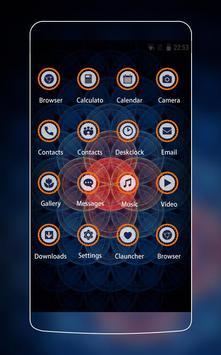 Neon Red & Blue Sacred Theme for Vivo V5 HD screenshot 1