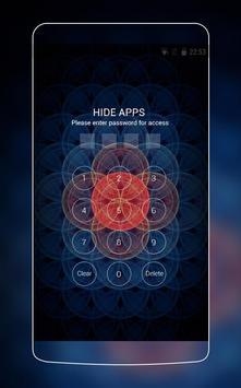 Neon Red & Blue Sacred Theme for Vivo V5 HD apk screenshot