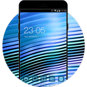 Blue Neon Line Theme for Vivo V5 icon