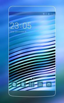 Blue Neon Line Theme for Vivo V5 poster
