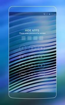 Blue Neon Line Theme for Vivo V5 apk screenshot