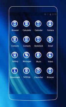Neon Blue Theme screenshot 1