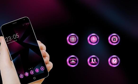Neon Purple Theme for Nokia 6 screenshot 3