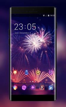 Neon theme colorful fireworks wallpaper poster