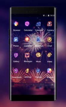 Neon theme colorful fireworks wallpaper screenshot 1