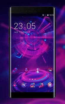 Neon theme cool Next tech cool wallpaper poster