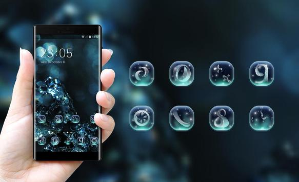 Neon theme wallpaper liquid water splash glare apk screenshot