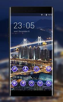 Neon theme wallpaper south korea busan top view poster