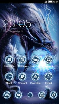 Black Cool Launcher: Fire Monster Dragon Wallpaper apk screenshot