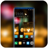 Theme for night soft light bokeh wallpaper icon