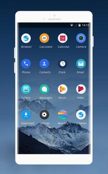 Theme for snowy mountain xiaomi mi a1 wallpaper screenshot 1