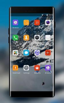 Theme for snow mountain xiaomi redmi note4 screenshot 1