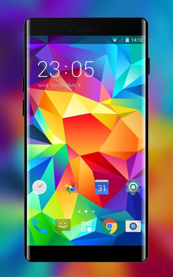 Theme For Samsung Galaxy Gradient Shape Wallpaper For