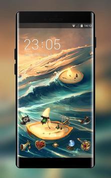 Theme for anime ocean light ships wallpaper poster