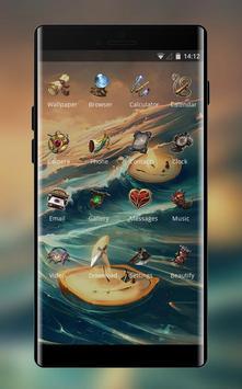 Theme for anime ocean light ships wallpaper screenshot 1