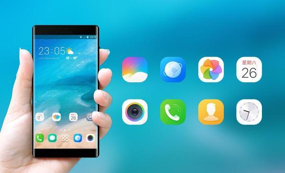 Theme for Xiaomi Mi 8 Pro &Phone 8 x ios Blue Sea screenshot 3