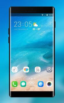 Theme for Xiaomi Mi 8 Pro &Phone 8 x ios Blue Sea poster