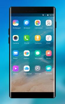 Theme for Xiaomi Mi 8 Pro &Phone 8 x ios Blue Sea screenshot 1